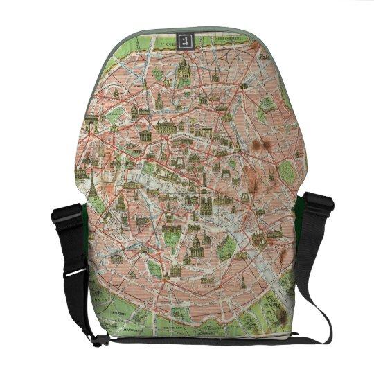 Vintage Map of Paris (1920) Courier Bag