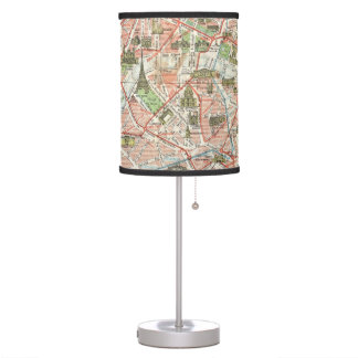Vintage Map of Paris (1920) Desk Lamp