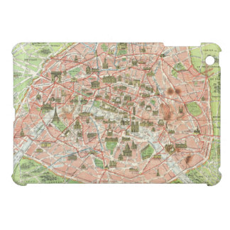 Vintage Map of Paris (1920) iPad Mini Cover