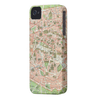 Vintage Map of Paris (1920) iPhone 4 Case-Mate Case