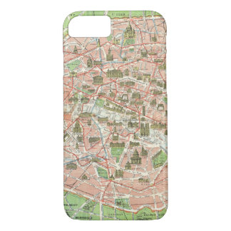 Vintage Map of Paris (1920) iPhone 7 Case