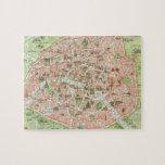 Vintage Map of Paris (1920) Jigsaw Puzzle