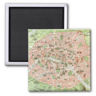 Vintage Map of Paris (1920) Magnet
