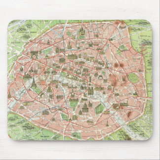 Vintage Map of Paris (1920) Mouse Pad