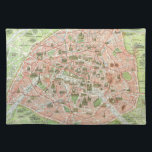 """Vintage Map of Paris (1920) Placemat<br><div class=""""desc"""">This is a vintage map of Paris produced in 1920.</div>"""