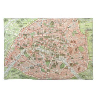 Vintage Map of Paris (1920) Placemat