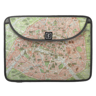 Vintage Map of Paris (1920) Sleeve For MacBook Pro