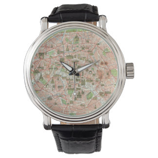 Vintage Map of Paris (1920) Watch