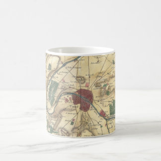 Vintage Map of Paris and Surrounding Areas (1780) Coffee Mug