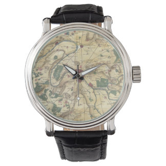 Vintage Map of Paris and Surrounding Areas (1780) Watches