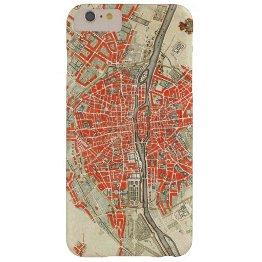 Vintage Map of Paris France (1721–1774) Barely There iPhone 6 Plus Case