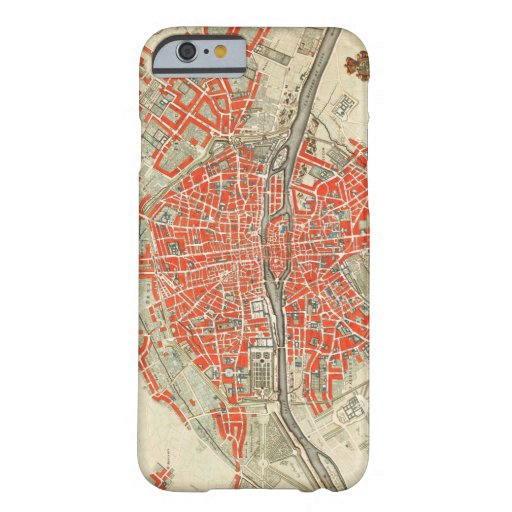 Vintage Map of Paris France (1721–1774) Barely There iPhone 6 Case
