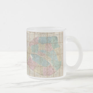 Vintage Map of Paris France (1867) Frosted Glass Coffee Mug