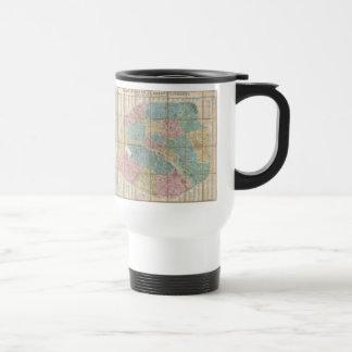 Vintage Map of Paris France (1867) Travel Mug