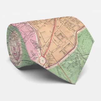 Vintage Map of Paris France (1878) Tie