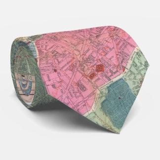 Vintage Map of Paris France (1889) Tie