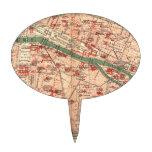 Vintage Map of Paris France (1910) Cake Topper