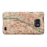 Vintage Map of Paris France (1910) Samsung Galaxy SII Cover