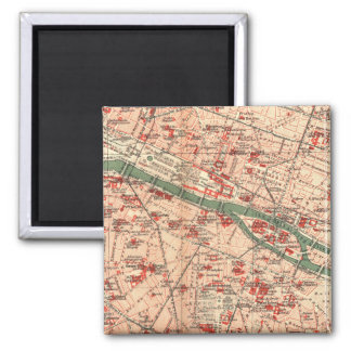 Vintage Map of Paris France (1910) Magnet