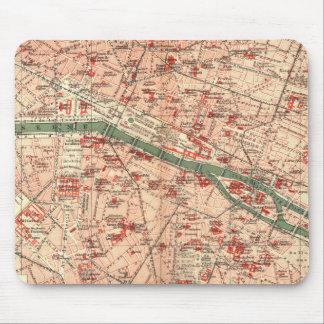 Vintage Map of Paris France (1910) Mouse Pad