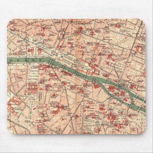 Vintage Map of Paris France (1910) Mousepads