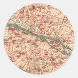 Vintage Map of Paris France (1910) Sticker