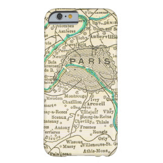 Vintage Map of PARIS FRANCE Barely There iPhone 6 Case