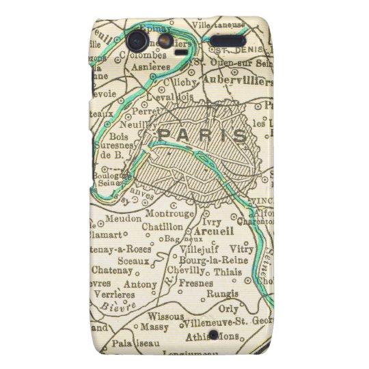 Vintage Map of PARIS FRANCE Droid RAZR Case