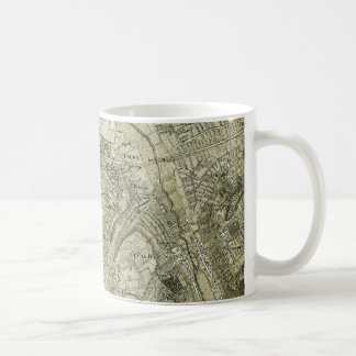 Vintage Map of Paris, France Mug