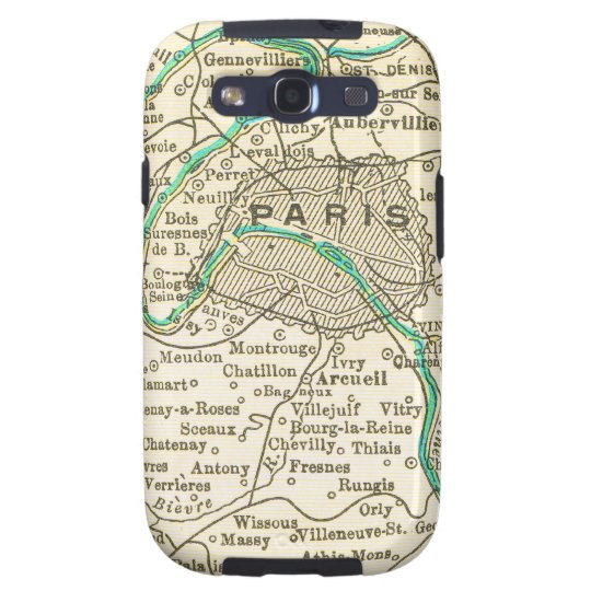 Vintage Map of PARIS FRANCE Samsung Galaxy S3 Cover