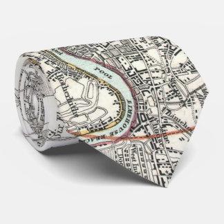Vintage Map of Paris France Vicinity (1841) Tie