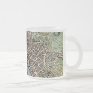 Vintage Map of Paris Frosted Glass Coffee Mug