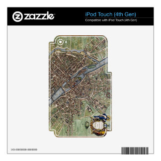 Vintage Map of Paris iPod Touch 4G Decals