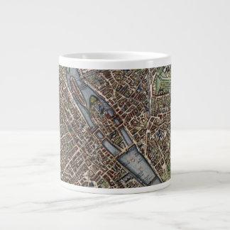 Vintage Map of Paris Large Coffee Mug