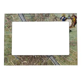 Vintage Map of Paris Magnetic Photo Frame