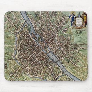 Vintage Map of Paris Mouse Pad