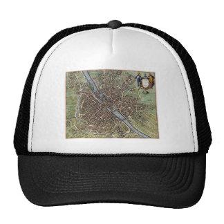 Vintage Map of Paris Trucker Hat