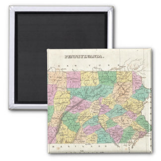 Vintage Map of Pennsylvania (1827) 2 Inch Square Magnet