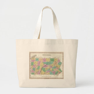 Vintage Map of Pennsylvania (1827) Canvas Bags