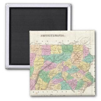 Vintage Map of Pennsylvania 1827 Magnet