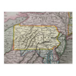 Vintage map of Pennsylvania Postcard