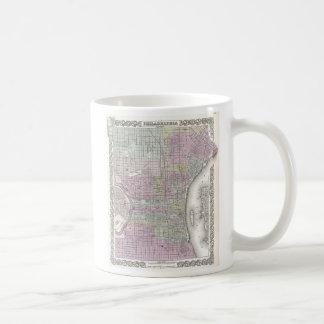 Vintage Map of Philadelphia (1855) Coffee Mug