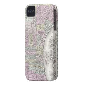 Vintage Map of Philadelphia (1855) iPhone 4 Case-Mate Case