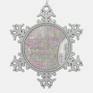 Vintage Map of Philadelphia (1855) Ornaments