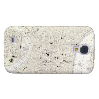 Vintage Map of Philadelphia (1885) Samsung Galaxy S4 Covers
