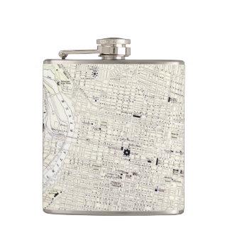 Vintage Map of Philadelphia 1885 Flask