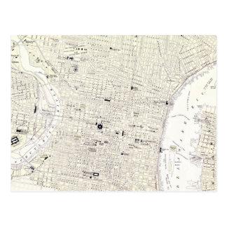 Vintage Map of Philadelphia (1885) Postcard