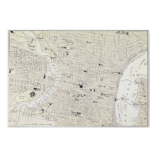 Vintage Map of Philadelphia (1885) Poster