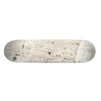 Vintage Map of Philadelphia (1885) Skateboard