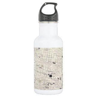 Vintage Map of Philadelphia (1885) Water Bottle